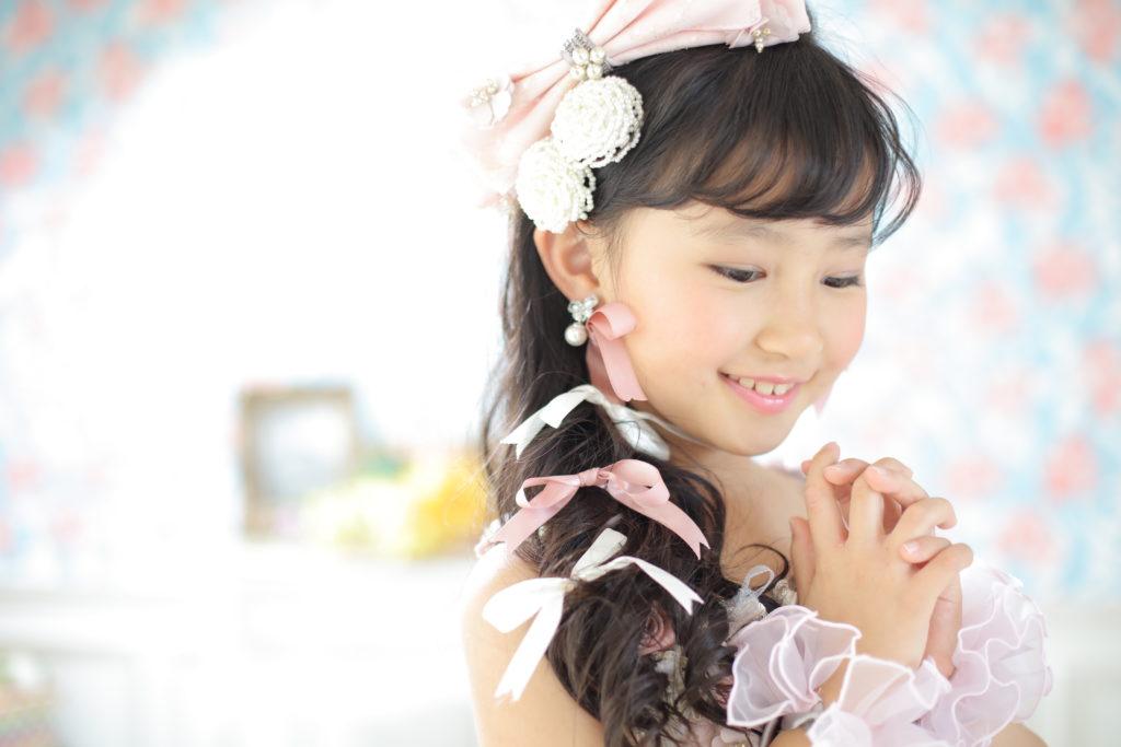 七五三 7歳児のドレス撮影