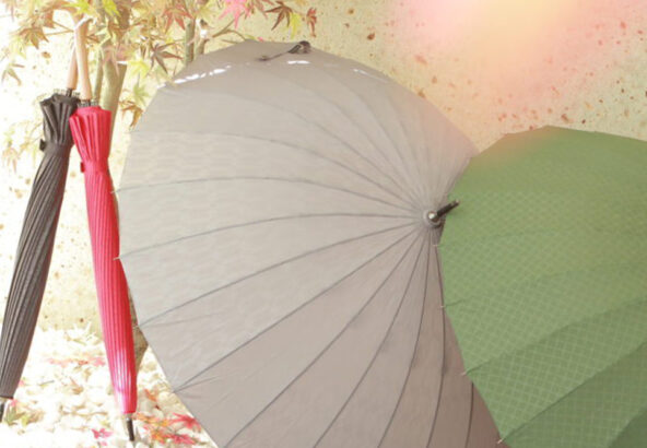 お着物にピッタリ!丈夫な和柄おしゃれ傘♡超軽量24本骨傘 江戸