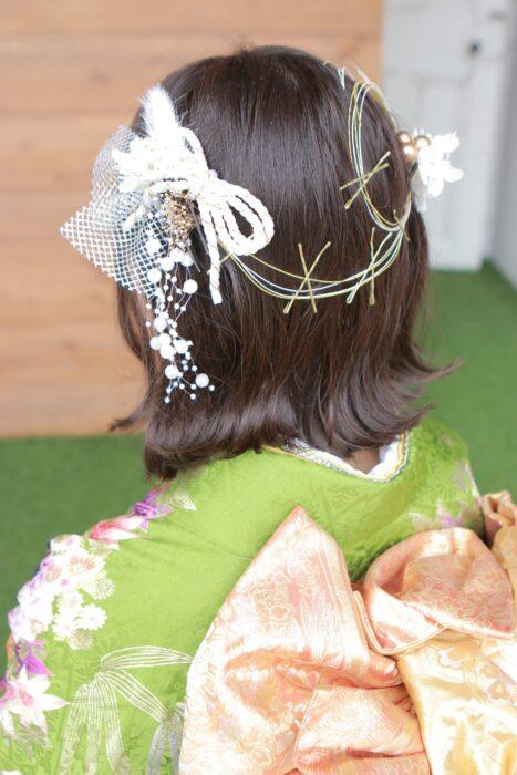 フォトスタジオkomachi深谷店にて成人式前撮りのヘアスタイル