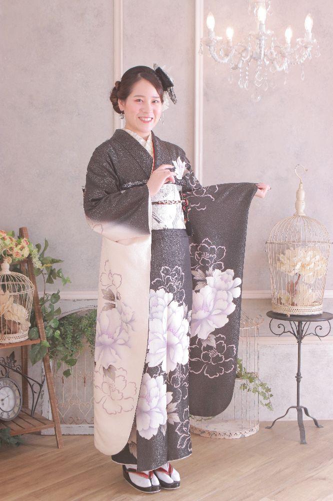 フォトスタジオkomachi深谷店にて撮影した成人式前撮り写真立ち姿